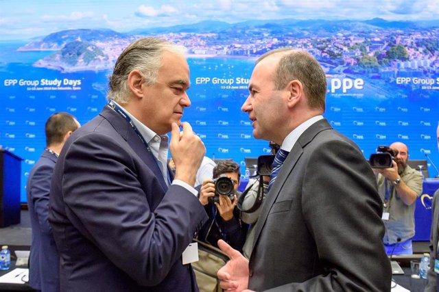 Inauguración en el Kursaal de San Sebastián de las jornadas de trabajo del Partido Popular Europeo