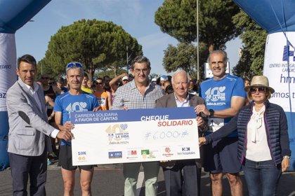 La carrera benéfica 'HM CIEC-Corre por la vida' recauda 6.000 euros, que fueron donados a Cáritas Madrid
