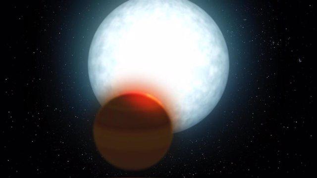 Analizan la atmósfera de un nuevo Júpiter ultracaliente