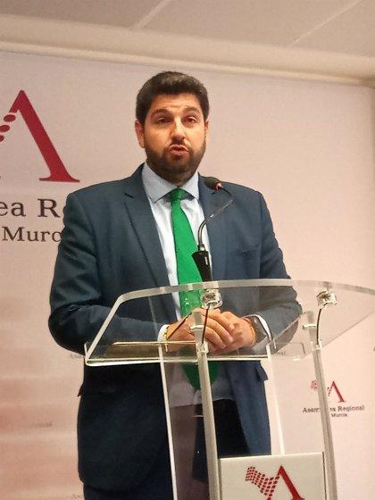 """López Miras dice que trabajarán por que el acuerdo alcanzado con Cs en la Asamblea """"pueda prolongarse"""""""