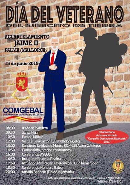 La Comandancia General de Baleares abre sus puertas este sábado en el Día del Veterano del Ejército de Tierra