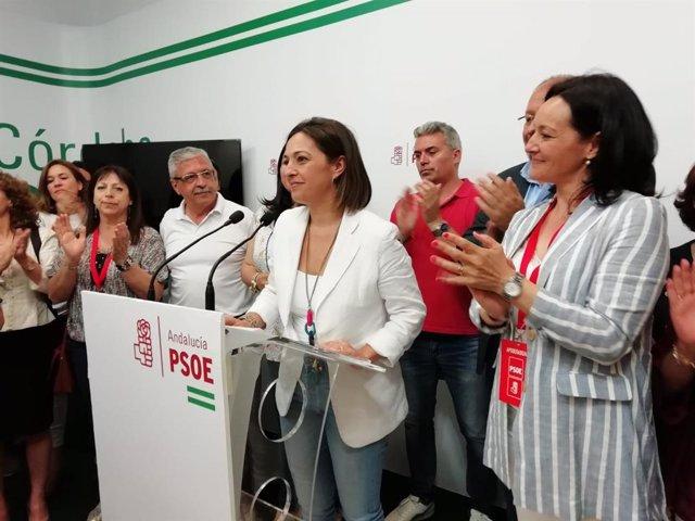 Córdoba.- 26M-M.- Isabel Ambrosio dice que se quedará en el Ayuntamiento al frente del PSOE, tras la victoria del PP
