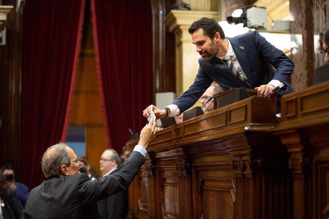 VÍDEO: Torrent es reuneix amb Urkullu a Vitòria i visita el Parlament Basc