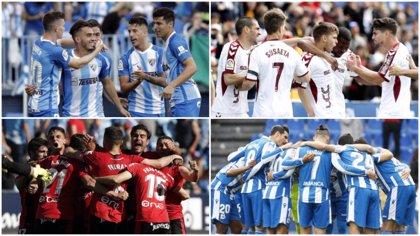 Deportivo-Málaga y Mallorca-Albacete, rivales históricos por una plaza de vuelta a la élite