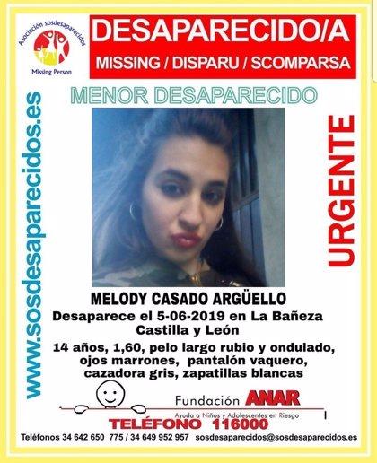 Piden colaboración para localizar a una menor desaparecida hace seis días en La Bañeza