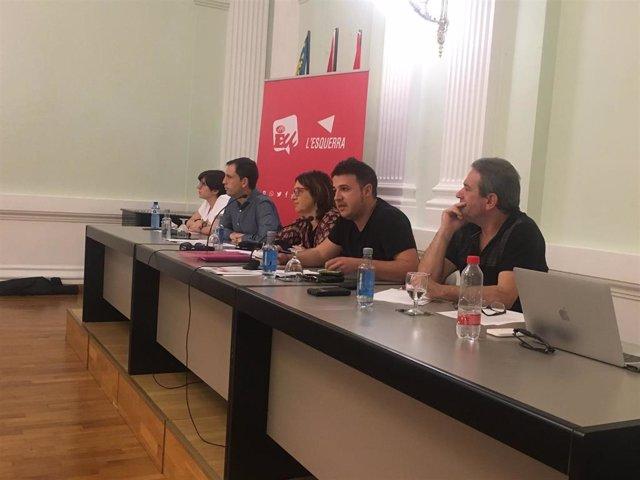 EUPV consultará a sus bases el acuerdo de gobierno, su participación en el Consell y la investidura