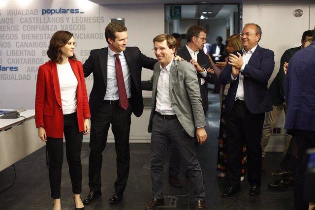 Reunión de la Ejecutiva del PP un día después de las elecciones del 26M