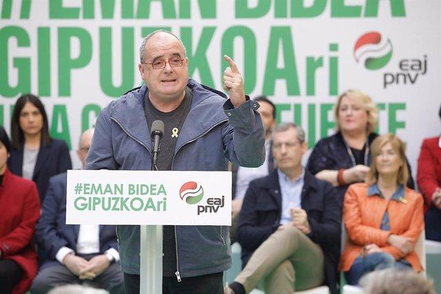 """Egibar (PNV) cree que se """"antoja difícil"""" un acuerdo presupuestario con EH Bildu y le emplaza a negociar """"con seriedad"""""""