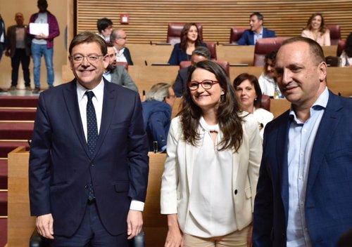 Investidura.- Comienza el pleno de investidura para reelegir a Puig  'president' de la Generalitat