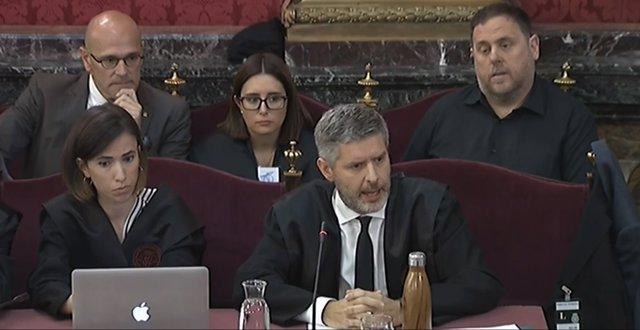 """VÍDEO.- Procés.- Abogado de Junqueras y Romeva lamenta que se quiere aplicar el """"Código Penal a la disidencia política"""""""