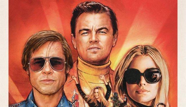 Leonardo DiCaprio, Brad Pitt y Margot Robbie presiden el póster final de Érase una vez... En Hollywood