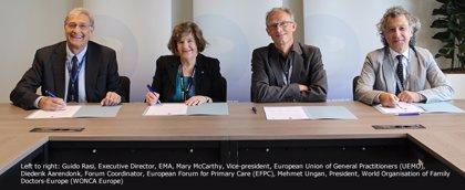 EMA firma una declaración conjunta con UEMO, WONCA y EFPC para fortalecer el compromiso con los médicos generales
