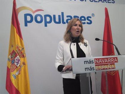 """Presidenta del PP navarro pide al PSOE que esta CCAA no sea """"moneda de cambio"""" porque es """"clave"""" en la unidad de España"""