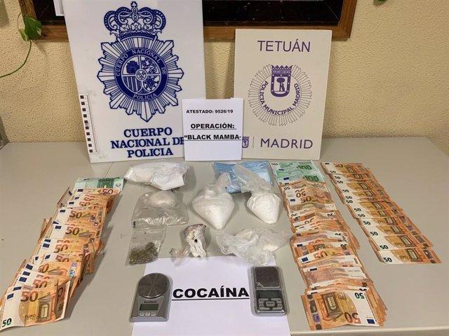 Sucesos.- Siete detenidos y casi un kilo de cocaína requisada en varios pisos de Tetuán