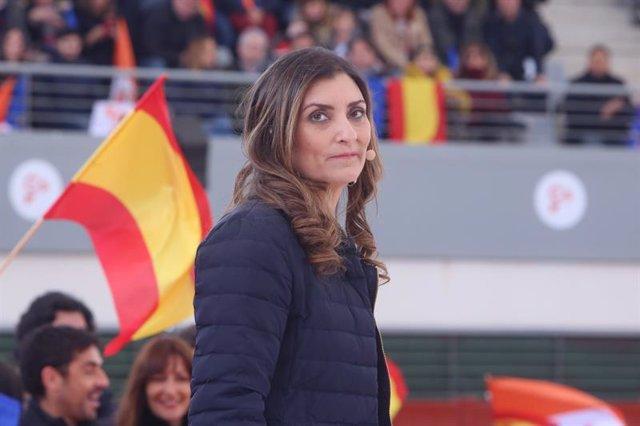 La diputada de Cs Sara Giménez en un mitin