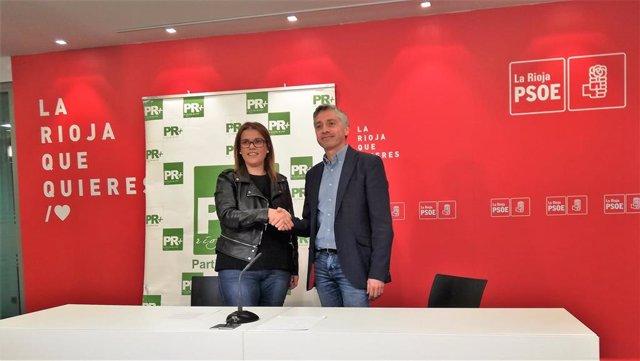 El acuerdo PSOE-PR+ para 10 gobiernos municipales facilita la Alcaldía de Logroño al socialista Hermoso de Mendoza