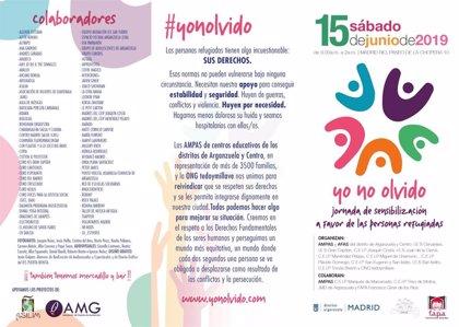 Las AMPAS de Arganzuela reivindicarán este sábado derechos de la infancia en la III edición 'Del olvido a la acción'