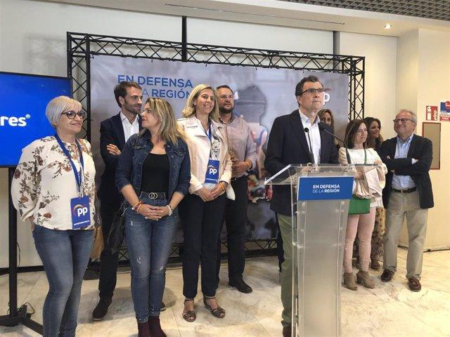 """26M-M.- Ballesta (PP) vence en Murcia sin mayoría y deja las """"puertas abiertas"""" a todos los que quieran dialogar"""