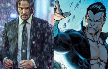 Imponente póster fan de Keanu Reeves como Namor en el Universo Marvel