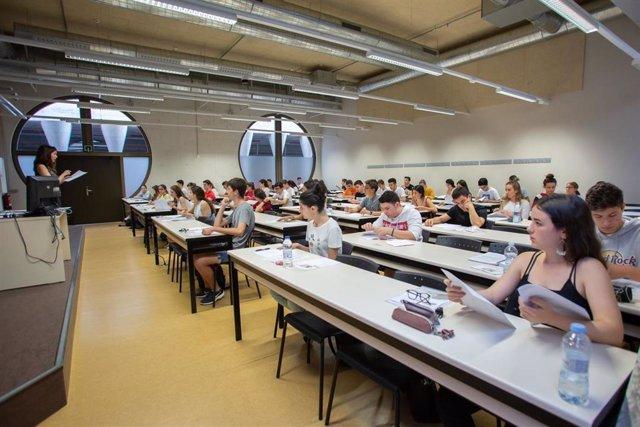 El 96,59% de estudiantes que se han presentado han superado la EvAU en Navarra