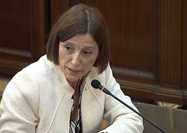 Procés.- Una diputada de ERC replica a la secretaria judicial que Forcadell no habló el 20-S
