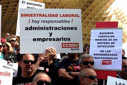 Sevilla cierra el primer cuatrimestre de 2019 con 16 muertes en el trabajo frente a las seis del año pasado