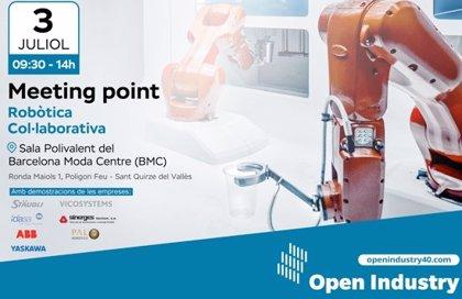 La comunidad Open Industry 4.0 organiza un Meeting Point dedicado a la robótica colaborativa