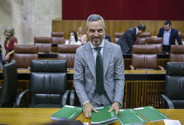 Pleno del Parlamento andaluz dedicada de forma monográfica al debate de totalidad del proyecto de Ley de Presupuestos de la Comunidad Autónoma para 2019