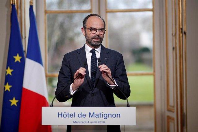 El primer ministro francés, Edouard Philippe