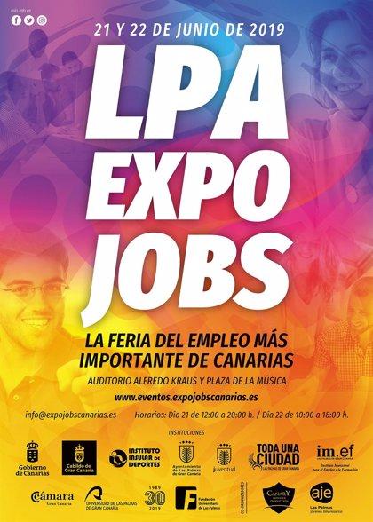 Las Palmas de Gran Canaria acoge los días 21 y 22 de junio 'LPA Expo Jobs 2019', la mayor feria del empleo de Canarias