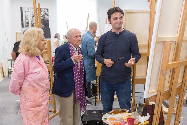 Antonio López y Juan José Aquerreta imparte un taller de pintura en el Museo Universidad de Navarra