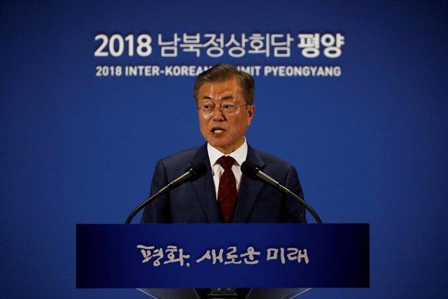 Corea.- Moon se reunirá con Trump con la esperanza de restablecer las conversaciones con Corea del Norte