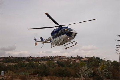 Rescatan a un piloto de helicóptero en Buenache de la Sierra (Cuenca) tras sufrir un accidente en Albarracín (Teruel)