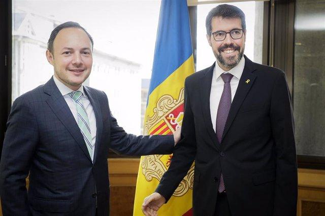 El jefe de Gobierno de Andorra y el alcalde de La Seu (Lleida) abordan temas transfronterizos