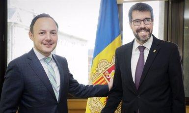 El cap de Govern d'Andorra i l'alcalde de La Seu (Lleida) aborden temes transfronterers (SFG)