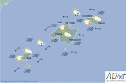 Predicción meteorológica para este jueves 13 de junio en Baleares: precipitaciones débiles