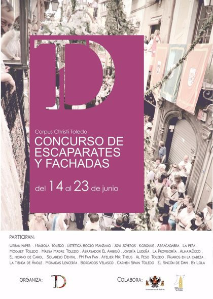 Hasta 24 comercios de Toledo participan en el I Concurso de Decoración de Escaparates del Corpus
