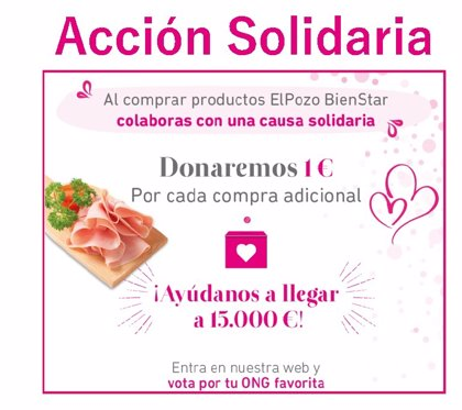 ElPozo Bienestar donará hasta 15.000 euros a tres ONG por la compra de sus soluciones