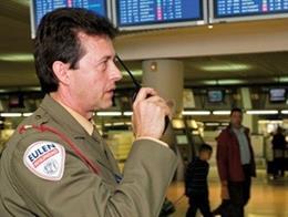 Servicio de Seguridad de Eulen en un aeropuerto