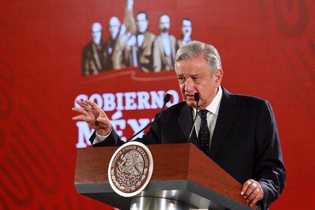Mexican President Lopez Obrador press conference in Mexico City