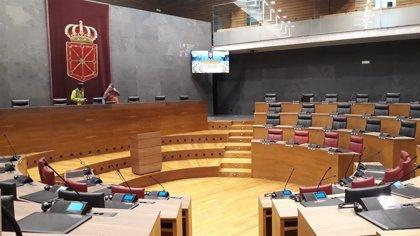 El Parlamento foral estrena nuevo sistema audiovisual, que ha tenido un coste de 700.000 euros