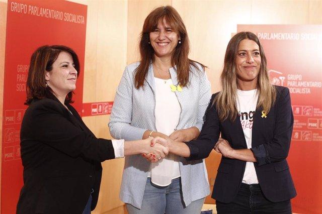 La vicesecretaria general del PSOE y portavoz del Grupo Parlamentario Socialista