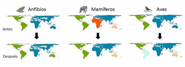 Un estudio del CSIC constata que el impacto humano cambia la forma en que la biodiversidad se organiza
