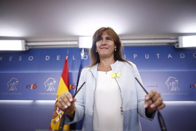 La vicesecretaria general del PSOE y portavoz del Grupo Parlamentario Socialista, Adriana Lastra, se reúne con representantes de JuntsxCat y ERC
