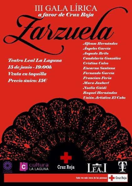 El Teatro Leal acoge este sábado una gala solidaria de Zarzuela a favor de Cruz Roja