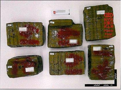 Dos detenidos en Santesteban por transportar 58 kilos de hachís