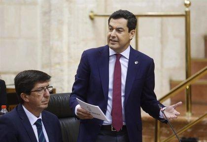 """Moreno asume compromisos de """"prosperidad"""" con el Campo de Gibraltar para """"achicar"""" espacios al crimen organizado"""