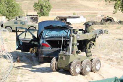El Campo de Maniobras 'Renedo-Cabezón' testa la capacidad de las Fuerzas Armadas ante cualquier amenaza explosiva