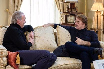 Bigote Arrocet y Bertín Osborne, en casa de María Teresa Campos en 'Mi casa es la tuya'