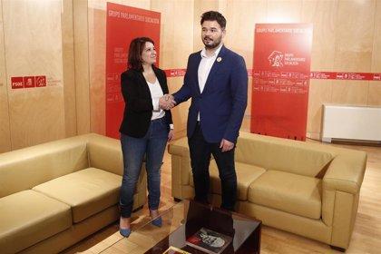Lastra (PSOE) muestra sintonía con ERC en temas sociales y le pide no bloquear la investidura